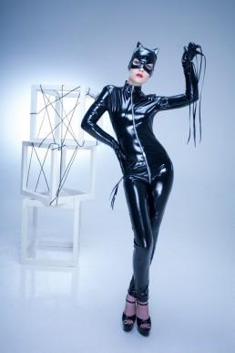 Catsuit Sweety Vinyle Noir