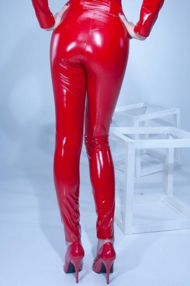 Leggings Vera Vinyle rouge