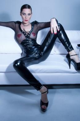 Leggings Vera Vinyle noir
