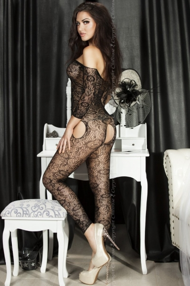 Bodystocking floral sans pieds - Chilirose
