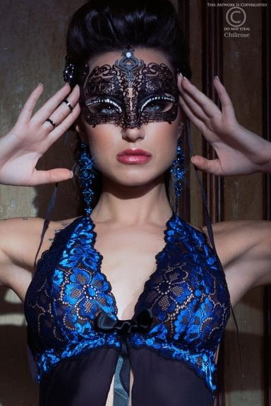 Masque Vénitien modèle 3807 - Chilirose