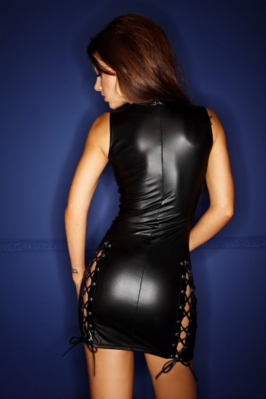 Robe sexy à laçages multiples - Noir Handmade