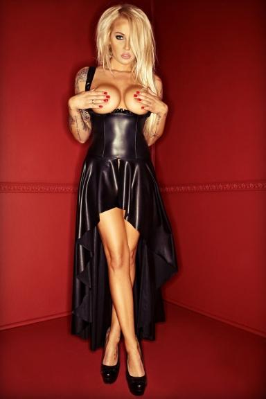 Robe longue seins nus - Noir Handmade