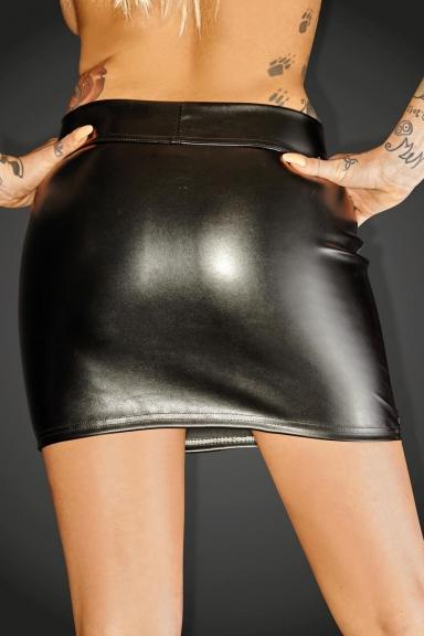 Mini jupe à zip - Noir Handmade