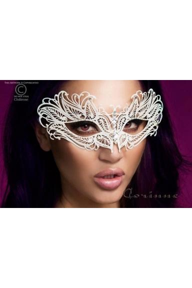 Masque vénitien blanc - Chilirose