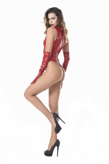 Body Manon Vinyle rouge - Patrice Catanzaro