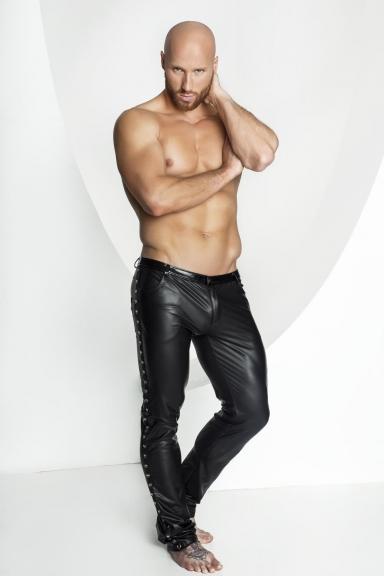 Pantalon à rivets - Noir Handmade