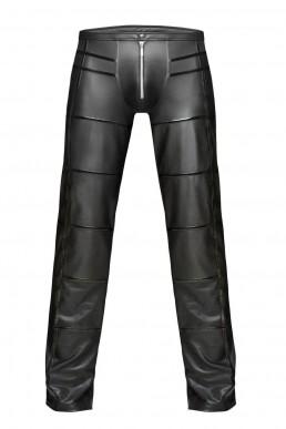 Pantalon wetlook à zip - Noir Handmade