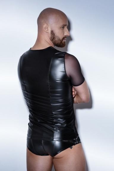 T-shirt effet bretelles - Noir Handmade