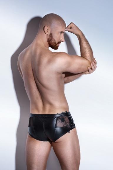 Boxer à laçages - Noir Handmade