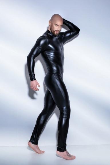 Combinaison wetlook homme - Noir Handmade