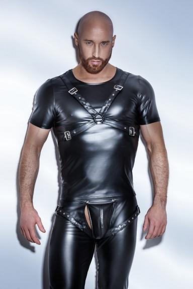 T-shirt Harnais - Noir Hadmade