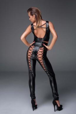 Pantalon sexy à laçages - Noir Handmade