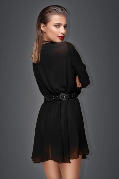 Robe fluide avec harnais - Noir Handmade