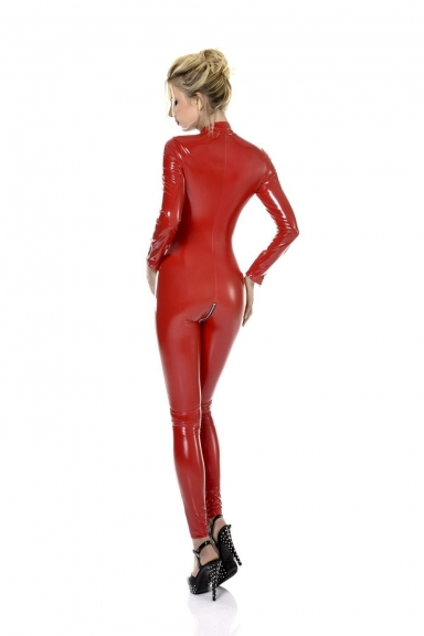 Catsuit Sweety Vinyle Rouge
