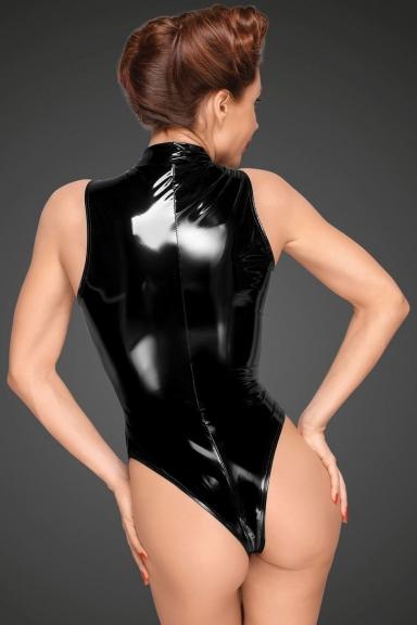 Body vinyle à zip - Noir Handmade