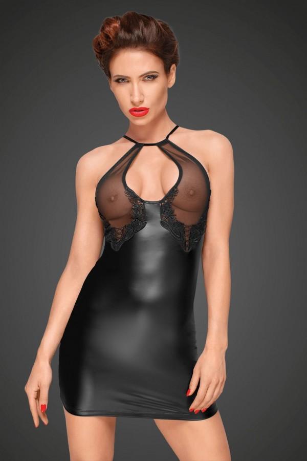 Robe décolleté transparent - Noir Handmade