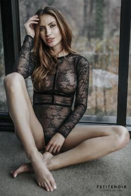 Body harnais en dentelle - Noir Handmade