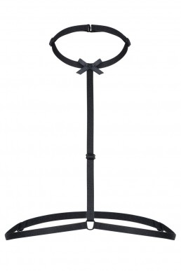 Choker harnais avec noeud - Noir Handmade