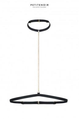 Collier choker avec chaînes - Noir Handmade
