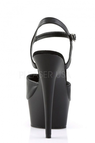 Sandales simili cuir noir - Pleaser