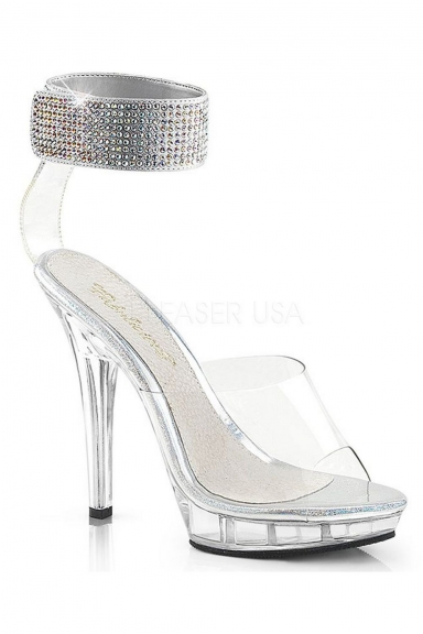 Sandales bride à strass - Pleaser