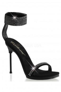 Sandales noires à strass - Pleaser