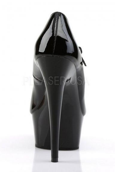 Escarpins vinyle noir à plateforme - Pleaser