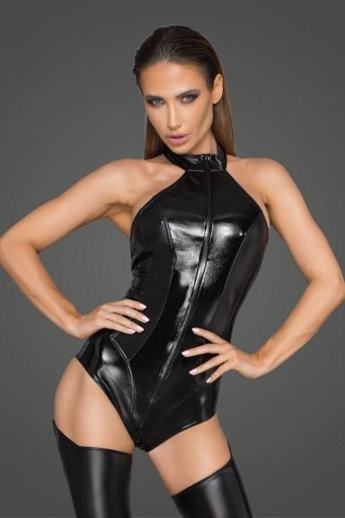 Body simili cuir - Noir Handmade