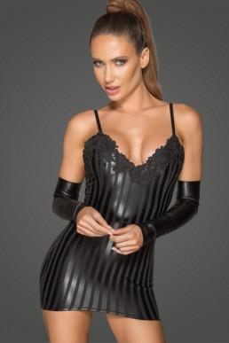 Mini robe à rayures - Noir Handmade