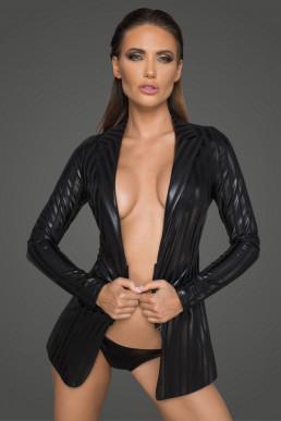Veste à rayures - Noir Handmade