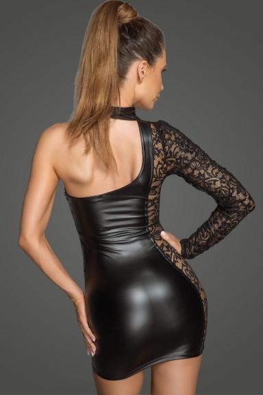 Robe sexy une manche - Noir Handmade