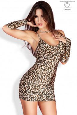 Robe léopard + Mitaines