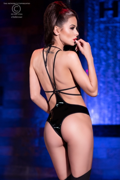 Body string noir brillant - Chilirose