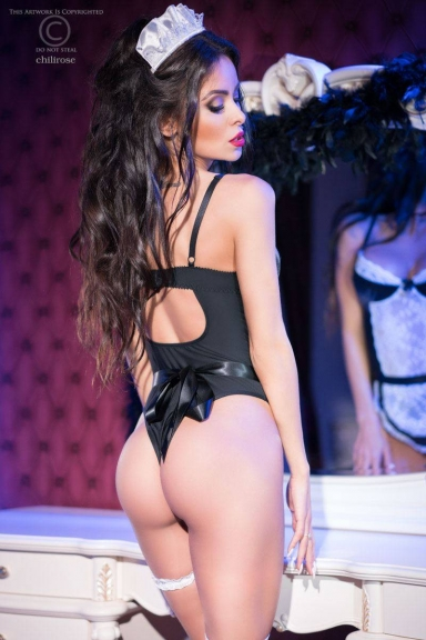 Ensemble body servante coquine - Chilirose