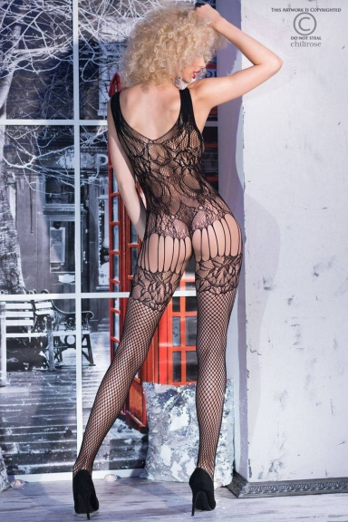 Bodystocking à jarretelles - Chilirose