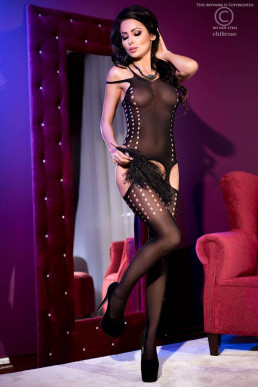 Bodystocking ouvert à pois - Chilirose