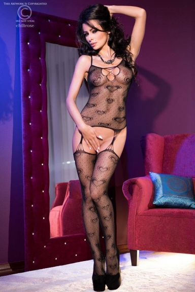 Bodystocking à coeurs - Chilirose
