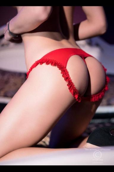 Culotte ouverte rouge - Chilirose