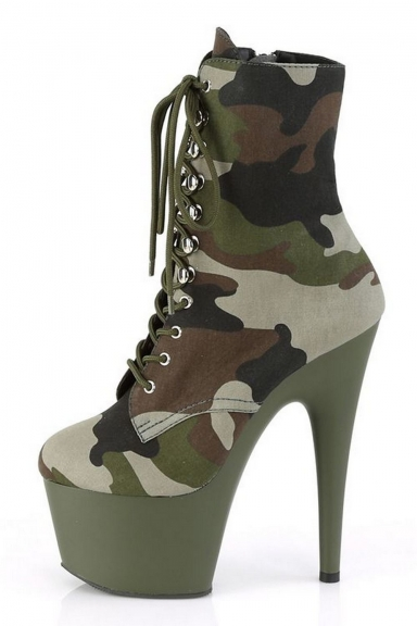 Bottines camouflage - Pleaser