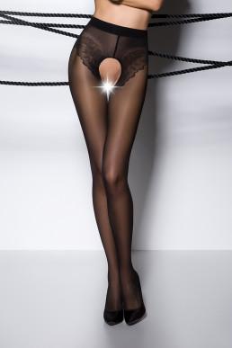 Collant ouvert effet lingerie - Passion