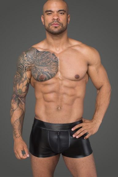 Boxer avec résille - Noir Handmade