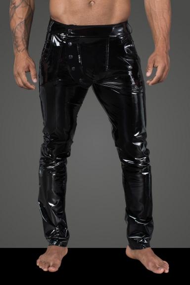 Pantalon vinyle homme - Noir Handmade