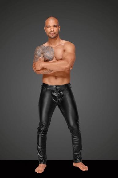 Pantalon wetlook homme - Noir Handmade