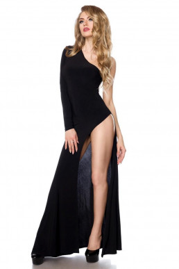 Robe longue asymétrique - Saresia