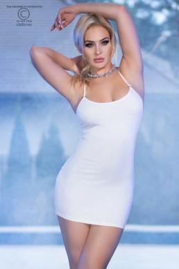 Mini-robe avec strass - Chilirose