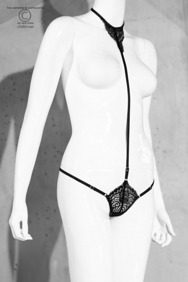 String ajustable avec collier - Chilirose