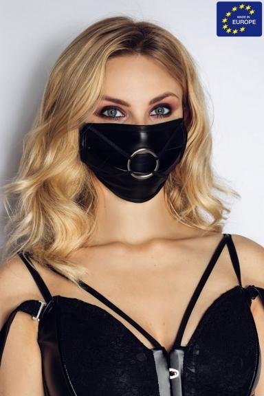 Masque facial avec anneau - Noir Handmade