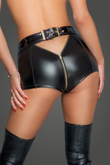 Short sexy à zip - Noir Handmade