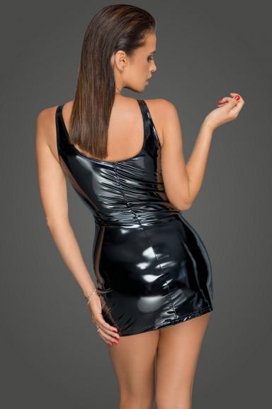 Robe vinyle à zip - Noir Handmade